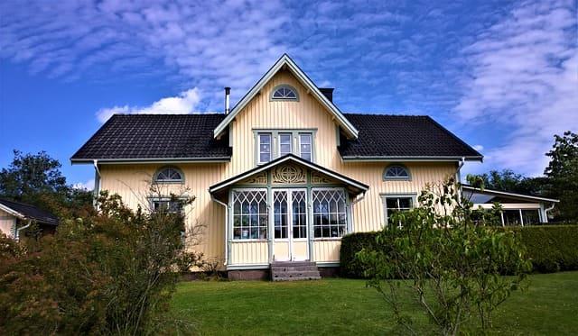 creamy cladding house